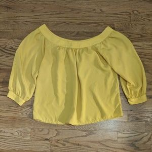 Anthropologie Maeve yellow off the shoulder top